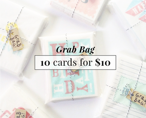 Grab Bag- 10 Cards for $10
