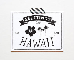 State of Hawaii Postcard