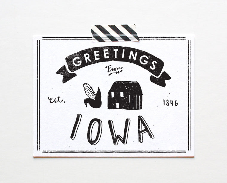 State of Iowa Postcard