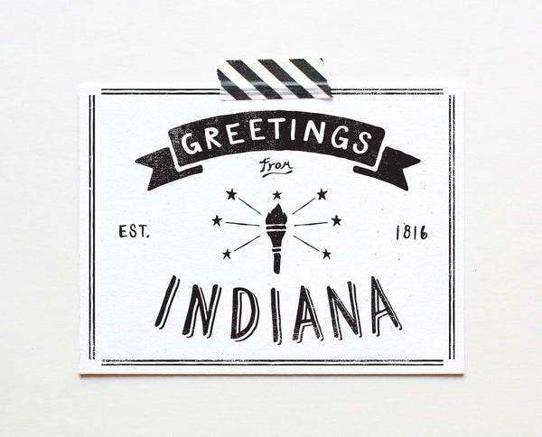State of Indiana Postcard