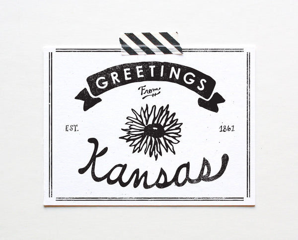 State of Kansas Postcard