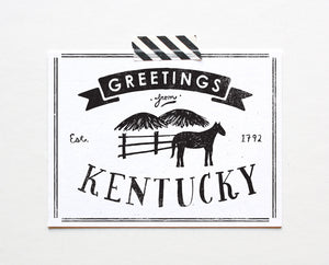 State of Kentucky Postcard