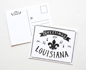 State of Louisiana Postcard