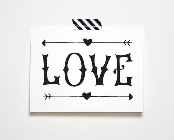 Love Lettered Card