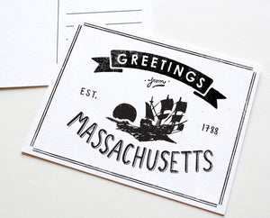 State of Massachusetts Postcard