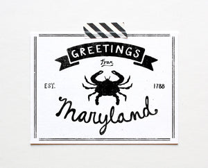 State of Maryland Postcard