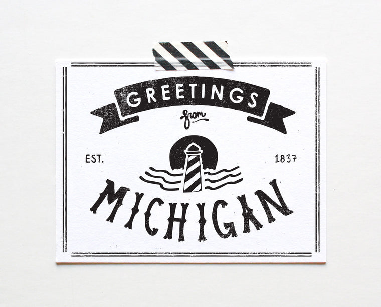 State of Michigan Postcard
