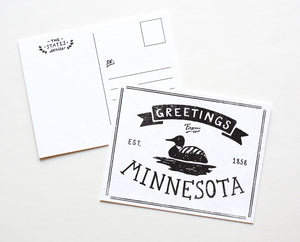 State of Minnesota Postcard