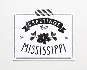 State of Mississippi Postcard
