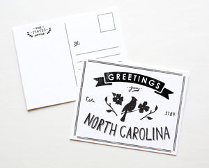 State of North Carolina Postcard