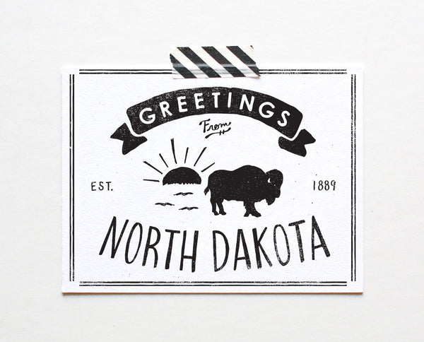 State of North Dakota Postcard