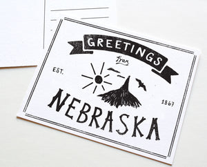 State of Nebraska Postcard