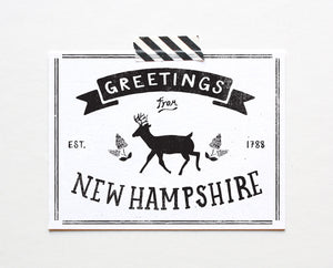State of New Hampshire Postcard