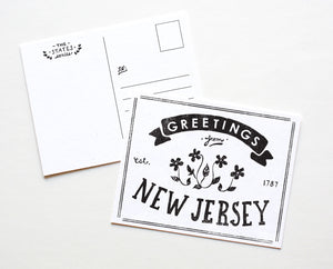 State of New Jersey Postcard