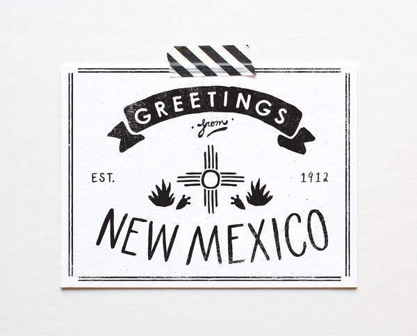State of New Mexico Postcard