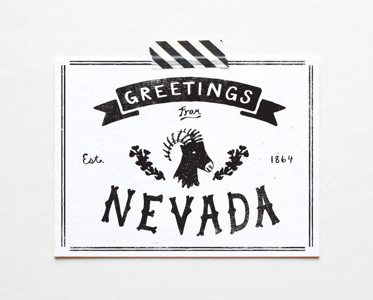 State of Nevada Postcard
