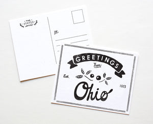 State of Ohio Postcard
