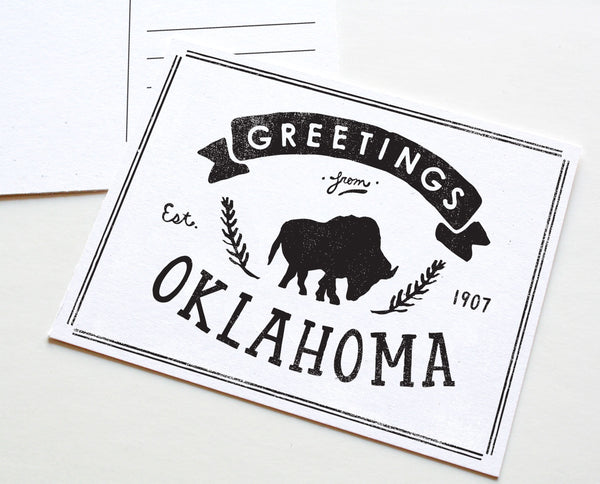 State of Oklahoma Postcard