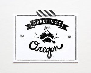 State of Oregon Postcard