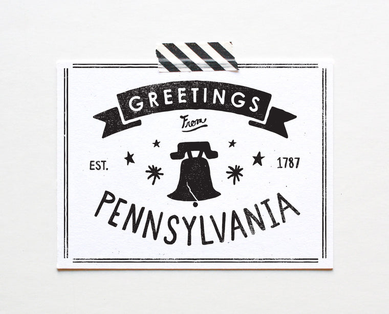 State of Pennsylvania Postcard
