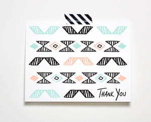 Pattern Thank You Card