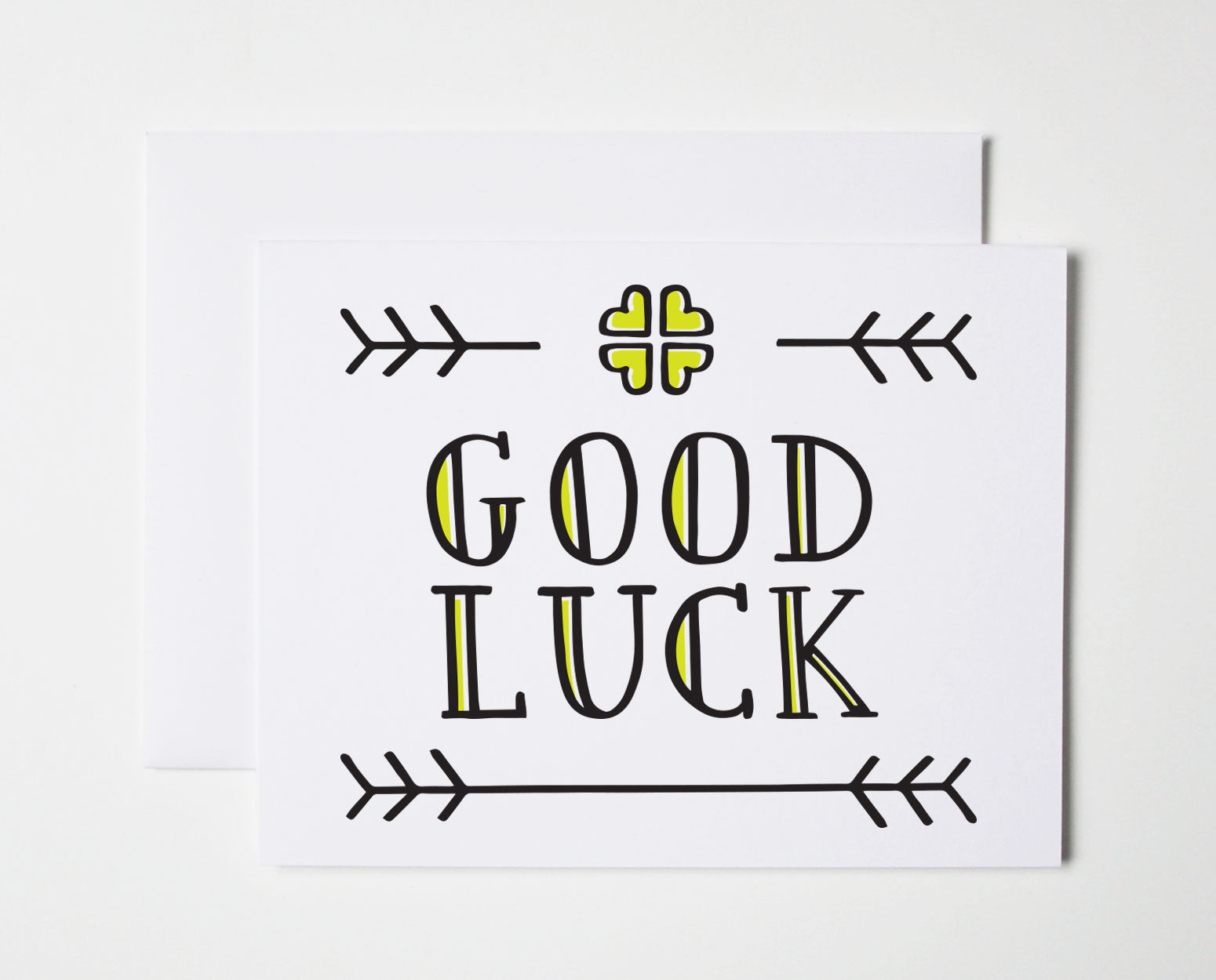 Good luck card the paper cub co good luck card kristyandbryce Image collections