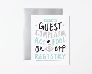 Smooth Wedding Card