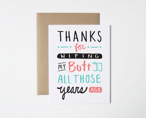 Butt Thanks Card
