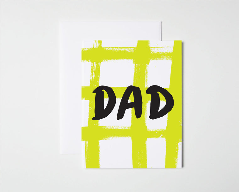 Dad Plaid- Father's Day Card