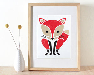 Red Fox Screenprint