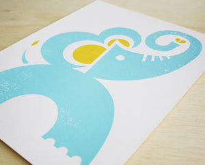 Elephant Screenprint