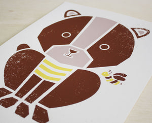 Honey Bear Screenprint