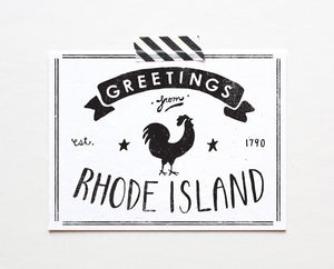 State of Rhode Island Postcard