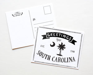State of South Carolina Postcard