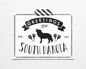 State of South Dakota Postcard