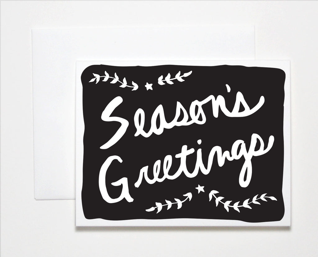 Seasons Greetings Holiday Card The Paper Cub Co