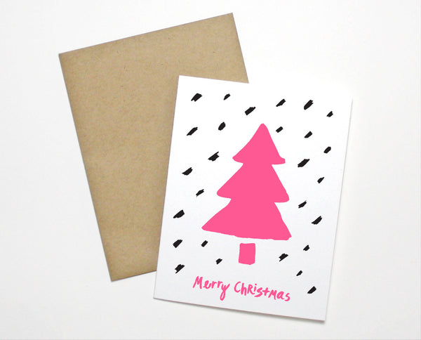 Snow Tree Christmas Card