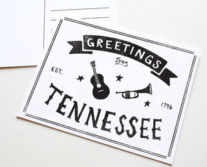 State of Tennessee Postcard