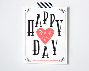 Happy Heart Day Card