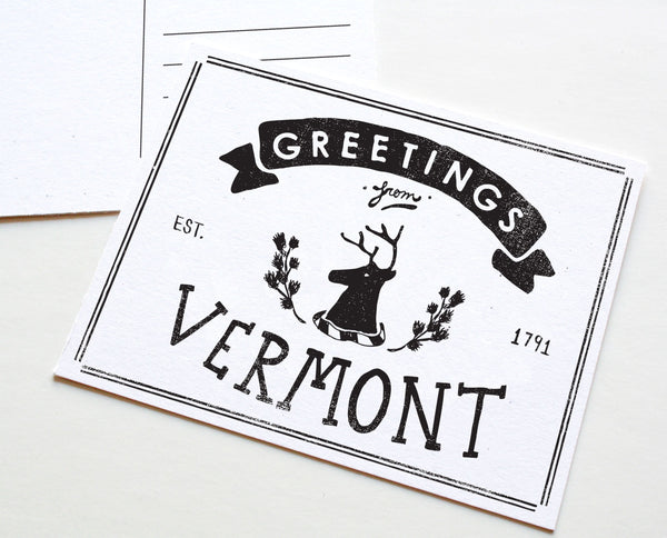 State of Vermont Postcard