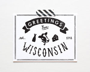 State of Wisconsin Postcard