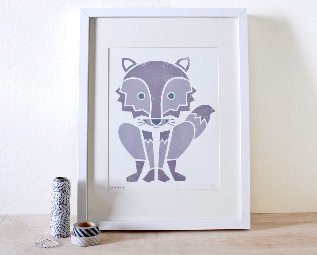 Wolf Screenprint