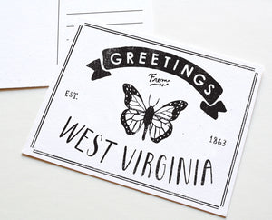 State of West Virginia Postcard