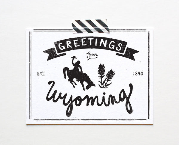State of Wyoming Postcard