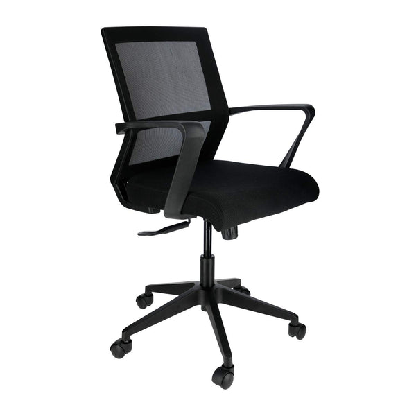 JD9 Office Chair with Advanced Centre Tilt Mechanism for Home or Office (Black)