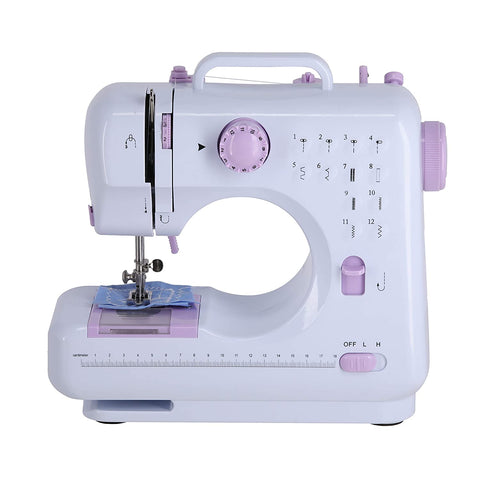 JD9 Sewing Machine for Home Tailoring, Sewing Machines, Mini Sewing Machine for Home, Sewing Machine Mini, Hand Machine for Stitching, Hand Sewing Machines with 12 in-Built Stitches