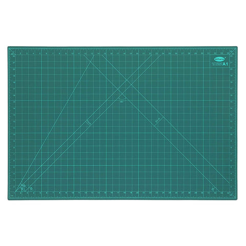 ALLWIN JD9 Professional Cutting Mat A1 Self-Healing 5 Layers Double Sided Durable Non-Slip PVC (34 Inch x 23 Inch/89 x 59 cm, Green)