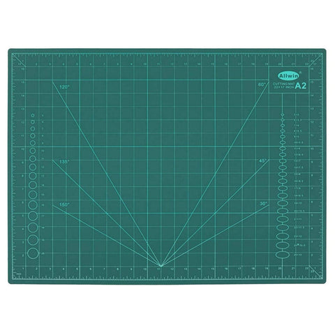 ALLWIN JD9 A2 Self-Healing 5 Layers Double Sided Durable Non-Slip PVC Professional Cutting Mat (23 x 17 Inch/59 x 44 cm, Green)