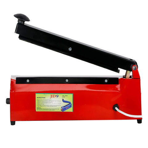 JD9 8 inches Premium Heavy Duty Heat Sealer, Packing Machine for Plastic Bag (Off White)