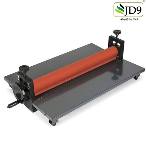 "JD9 25.5"" Cold Laminator Machine 10mm Manual Vinyl Photo Film Cold laminator Hand Crank Pressure Cold Roll laminator(25.5"")"